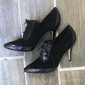 Banana Republic Black Suede Ankle Boots Sz 10